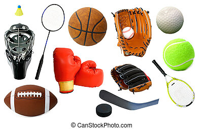 Various Sports Items - This is an arrangement of several...