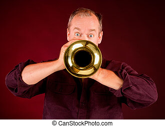 Trumpet Player  - Front View of a Trumpet Player