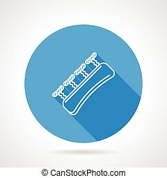 Vector icon for gripping finger - Blue flat vector icon with...
