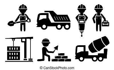 icon for construction industry - isolated building...