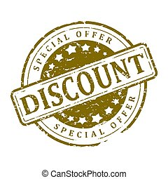 Stamp Round - discount, special offer