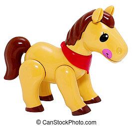 Pferd, spielzeug, Freigestellt
