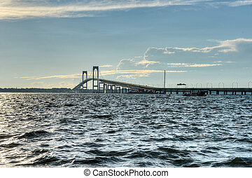 Newport Bridge - Rhode Island - Newport Bridge from near...
