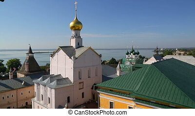Panorama of Kremlin in ancient town Rostov the Great and...