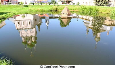Reflection of Rostov Kremlin. Rostov The Great is a tourist...