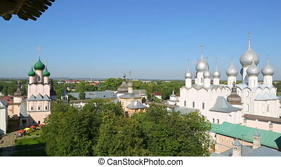 Panorama of Kremlin in ancient town Rostov the Great,...