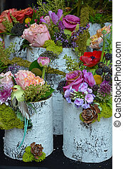 Colorful spring flower arrangements - Colorful assorted...