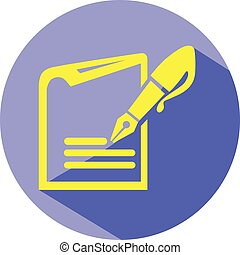Note pad with pen vector eps 10