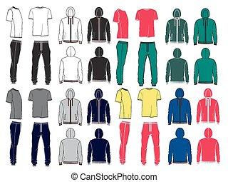 Set of men's sport clothes