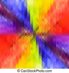 Rainbow Colored Triangle Geometric Star pattern Background -...