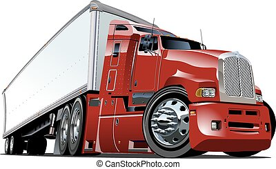 Cartoon semi truck. Available EPS-10 vector format separated...