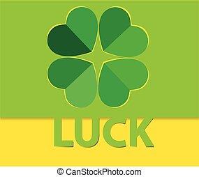 Luck pop up paper cut vector.