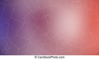 Outline Cubes Background wi