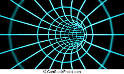 Abstract 3d tunnel from a grid.