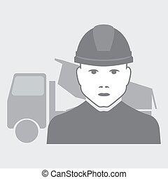 vector truck driver worker