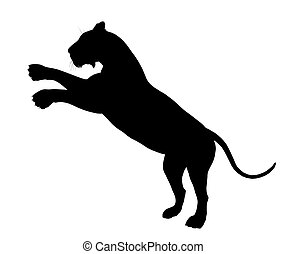 Lion Illustration Silhouette - Black lion art illustration...