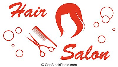 hair salon red symbol