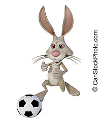 Easter bunny the football player