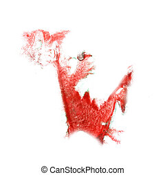 Blot divorce illustration red artist of handwork is isolated...