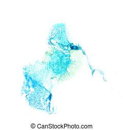 Blot divorce illustration bluish artist of handwork is...