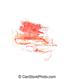 Blot divorce red illustration artist of handwork is isolated...