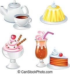Sweet food and drinks, vector image See the similar images...