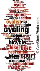 Cycling word cloud concept Vector illustration