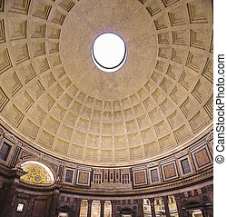 Decorated Pantheon granite dome wit - Pantheon is ancient...