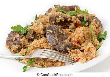 Armenian liver pilaf