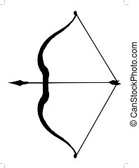 bow and arrow - silhouette of bow and arrow