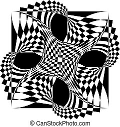 Vortex arabesque four corners