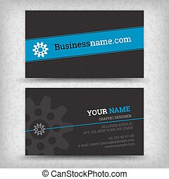 Business cards templates - Vector abstract creative business...