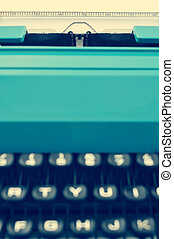 retro typewriter, with a filter effect - closeup of a retro...