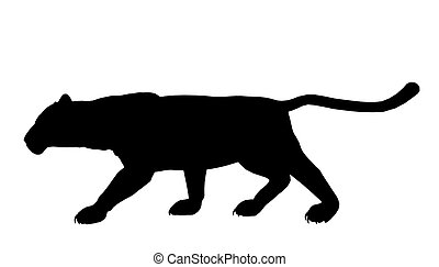 Panther Illustration Silhouette - Black panther art...