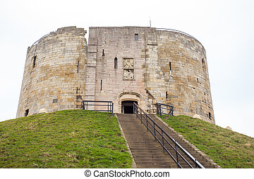 Cliffords Tower in York - Clifford's Tower, the inner keep...