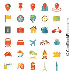 Travel Icons - A set of flat travel icons