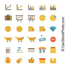 Shop And Finance Icons - A set of shop and finance icons
