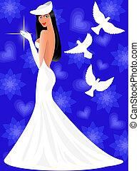 bride in a wedding dress