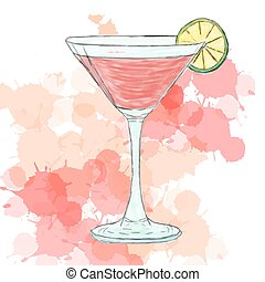 Cosmopolitan cocktail - Vector illustration of Cosmopolitan...