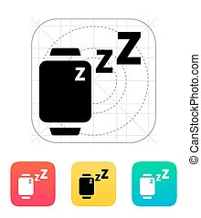 Sleep mode in smart watches icon. Vector illustration.