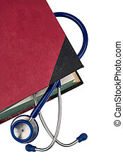 book and stethoscope, symbolic photo for bungling doctors...