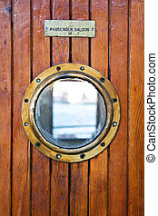 Deck light on thr passenger ferry