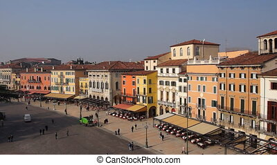 Verona - Panoramic time-lapse of Italian town Verona