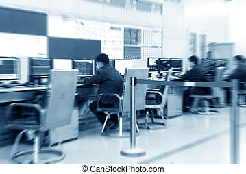Control Room - Modern plant control room and computer...