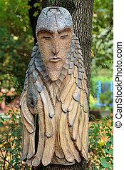 Hada -like, de madera, figuras, De, primaeval, Slawic,...