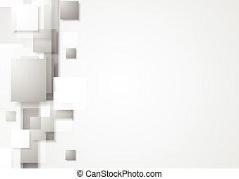 Grey geometry hi-tech background. Vector design