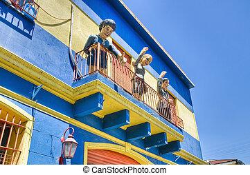 Caminito street in La Boca - Colorful houses at Caminito...
