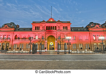 Casa Rosada building at Mayo square - Casa Rosada building...