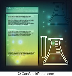 laboratory glass. Chemical flask Healthcare background
