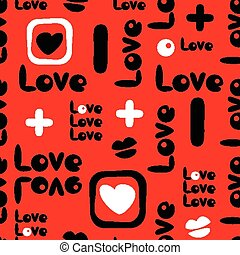 Love pattern - Seamless love pattern